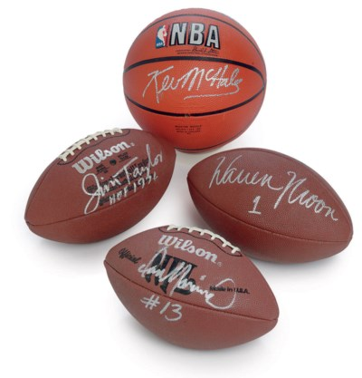 A GROUP OF FOUR AUTOGRAPHED SP