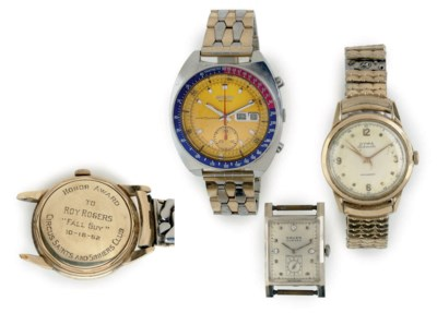 A GROUP OF THREE WATCHES