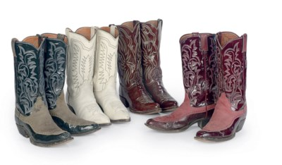 FOUR PAIRS OF JUSTIN BOOTS