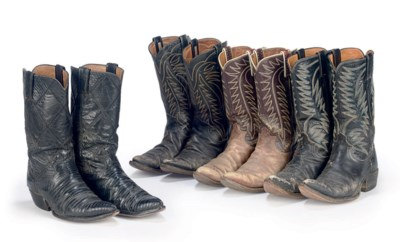 FOUR PAIRS OF ROY'S BOOTS
