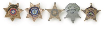 A GROUP OF FIVE SHERIFF AND CA