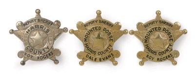 A GROUP OF THREE PERSONALIZED