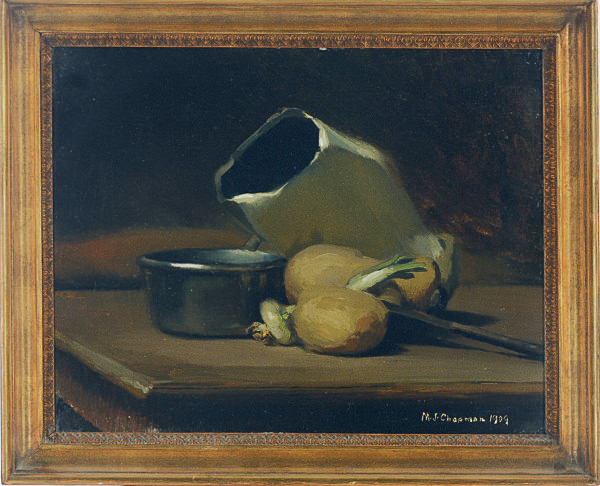 Still Life with Onions, Pan and Jug