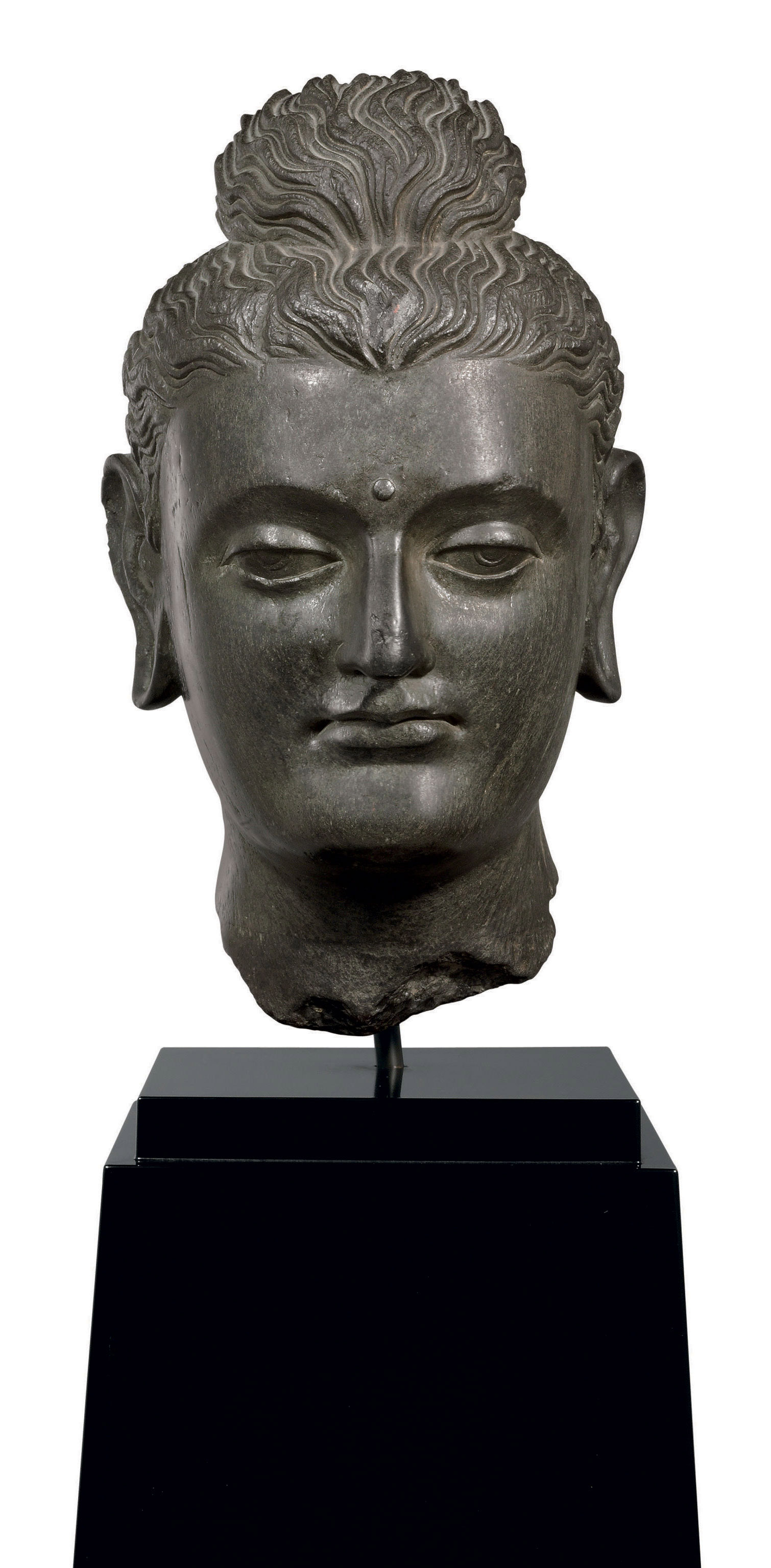 A Black Schist Head Of Buddha Gandhara 2nd 3rd Century Sculptures Statues Figures Head Christie S