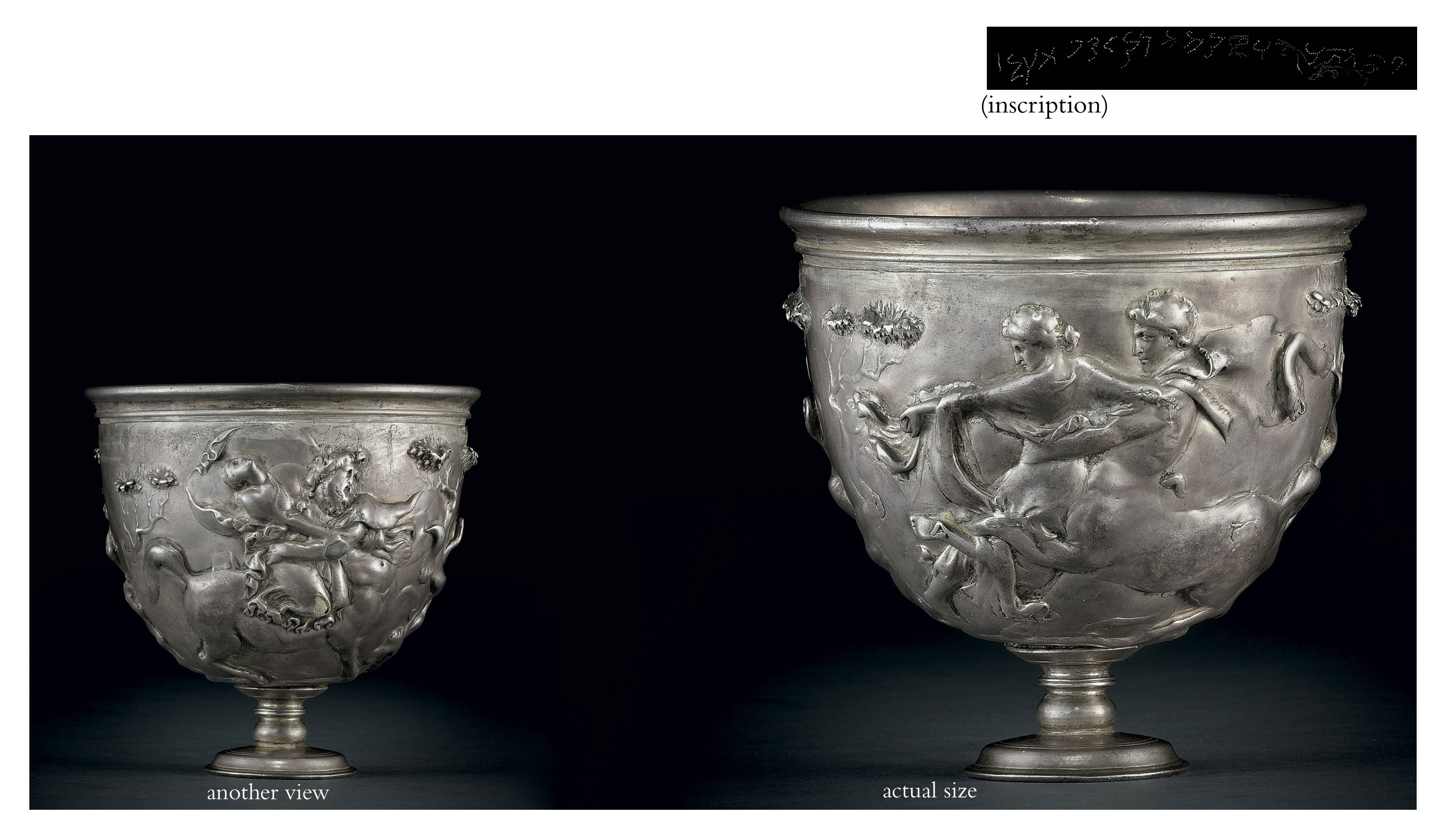 A Roman silver kantharos