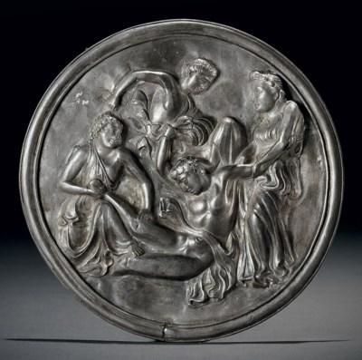 A silver repoussé medallion