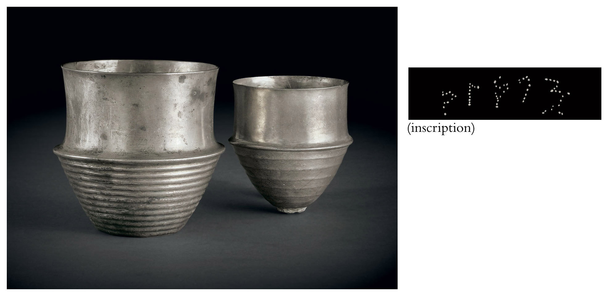 Two silver cups