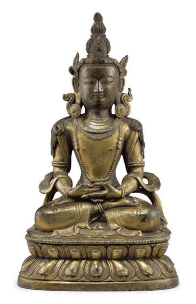 A gilt bronze figure of Amitay