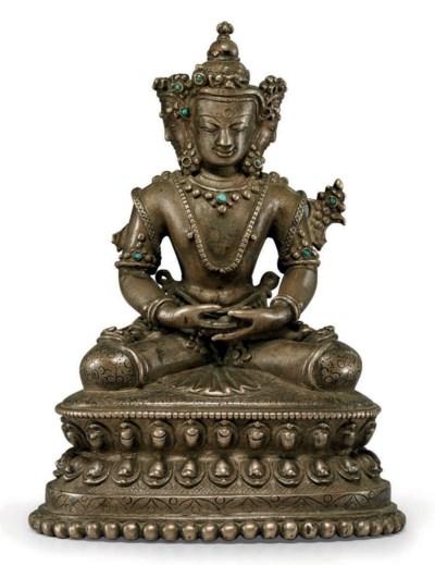 A bronze figure of Vairocana
