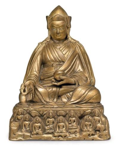 A gilt bronze figure of Padmas