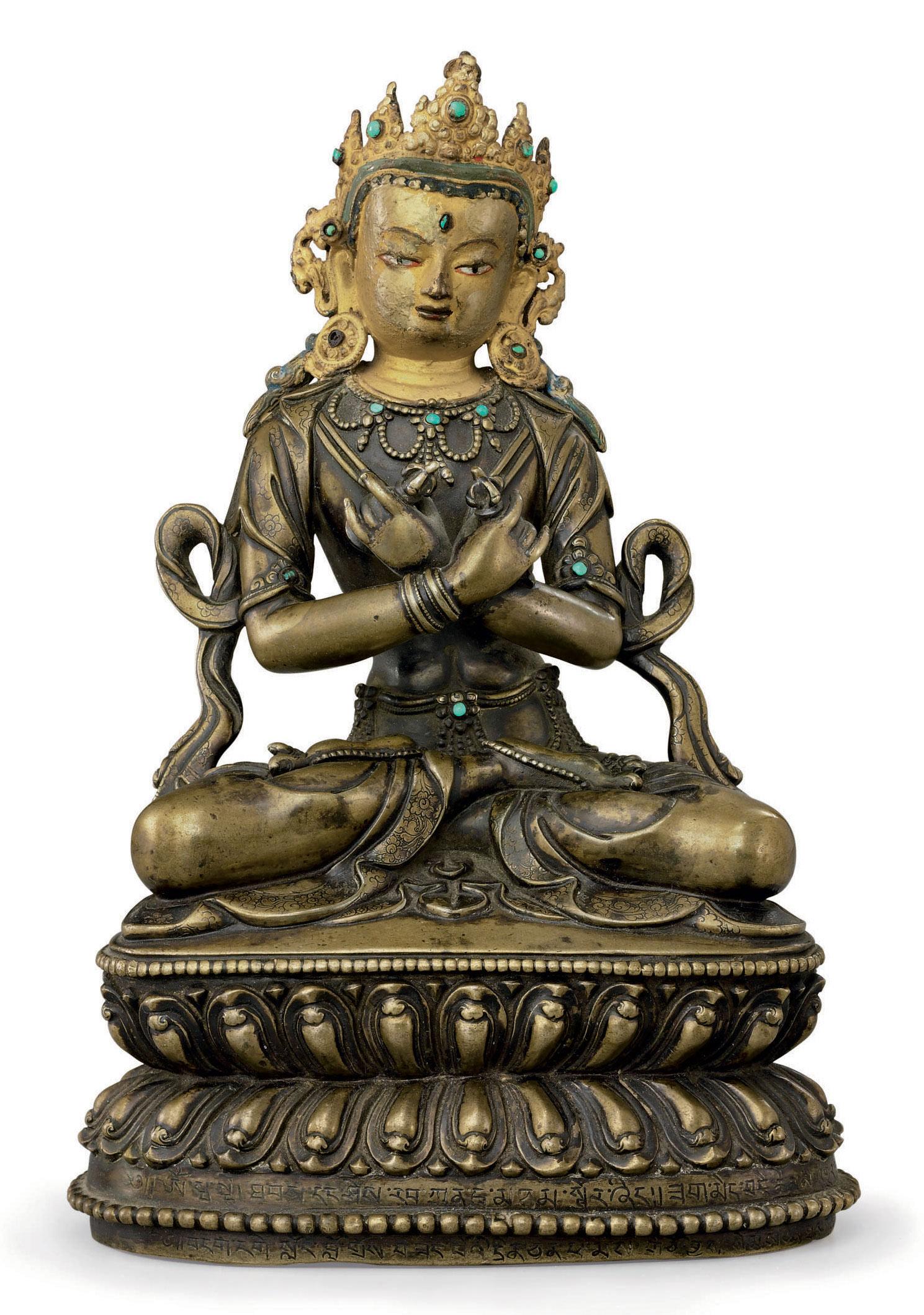 A bronze figure of Vajradhara