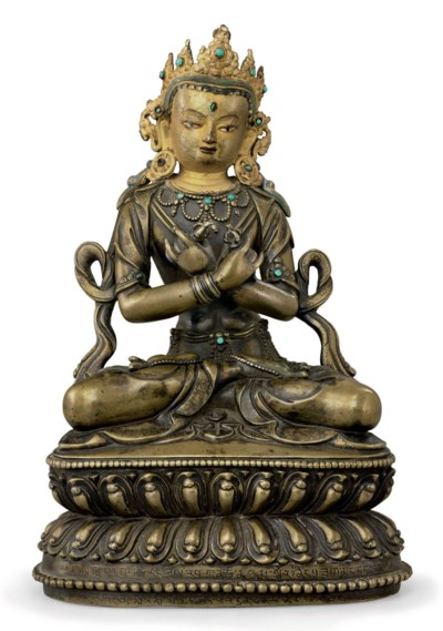 A bronze figure of Vajradhara