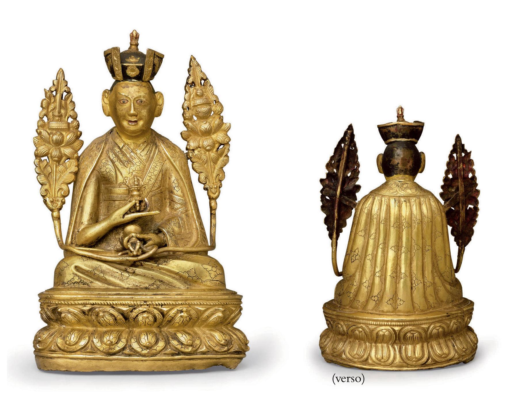 A gilt bronze figure of the Fi