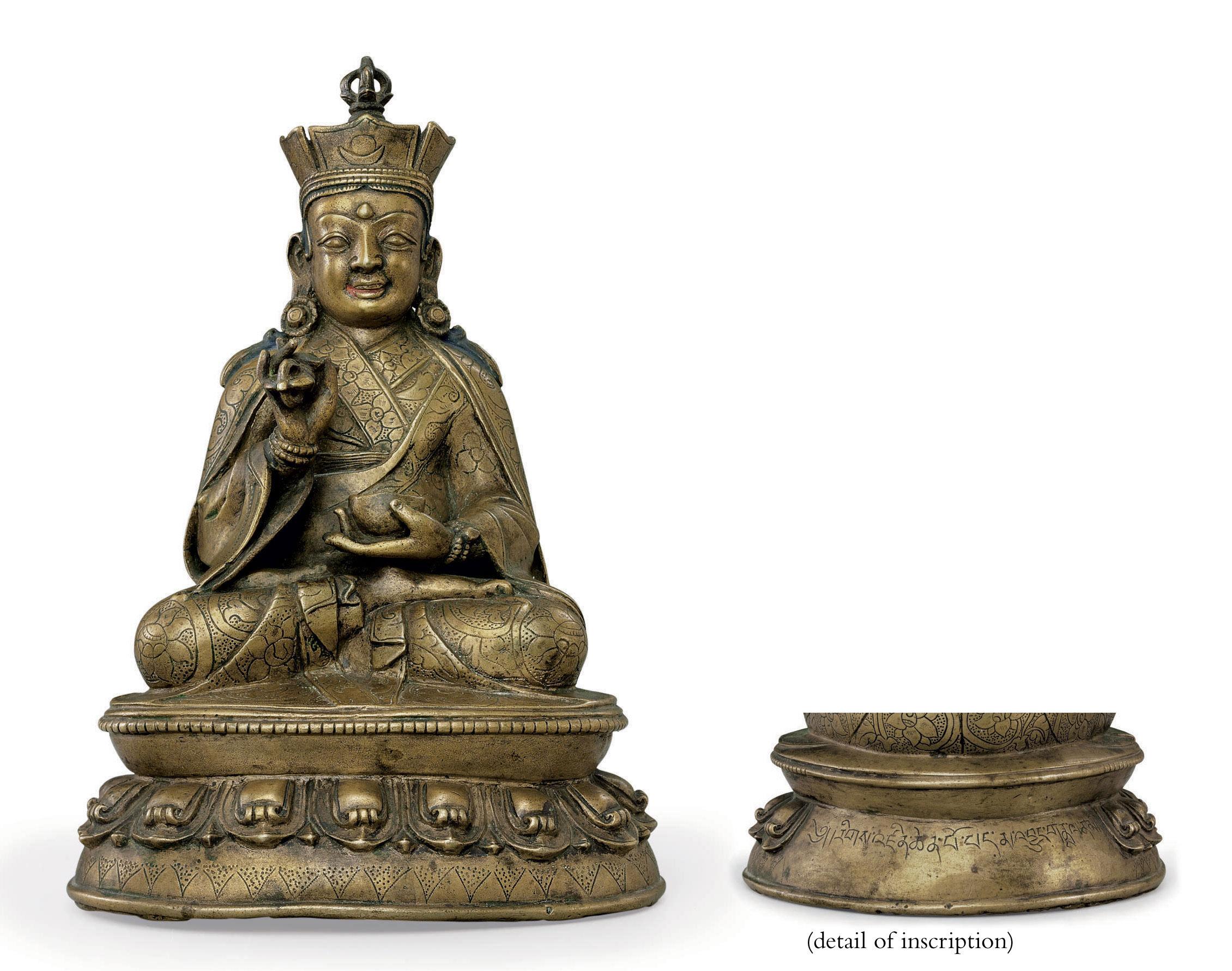 A bronze figure of Padmasambha
