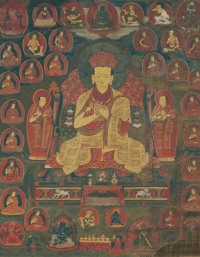 A thangka of a Jigten Sumgon
