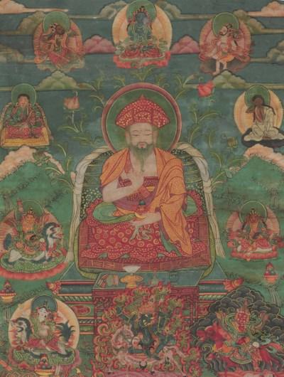 A thangka of Shabdrung Ngagwan