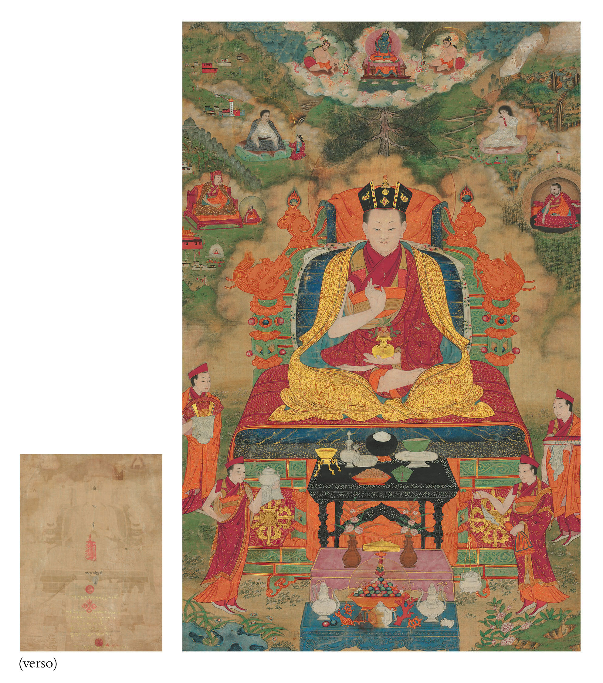A thangka of the Ninth Karmapa