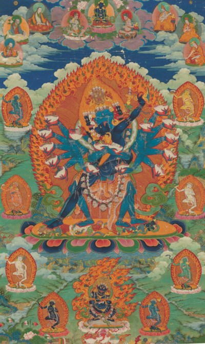 A thangka of Hevajra Nairatmya