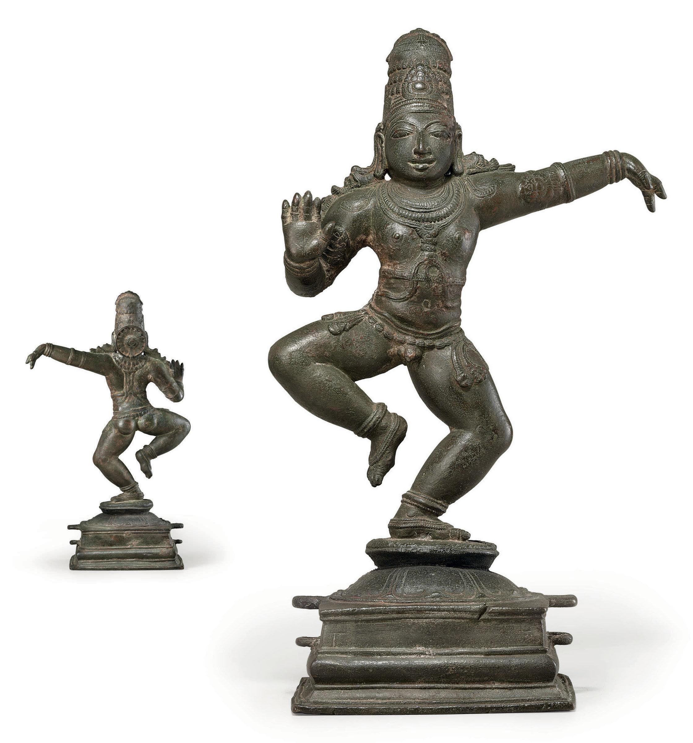 A bronze figure of Balakrishna