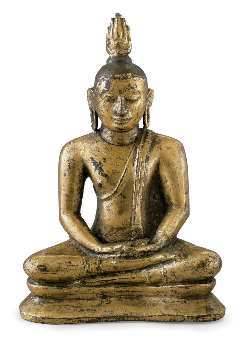 A gilt bronze figure of a Budd