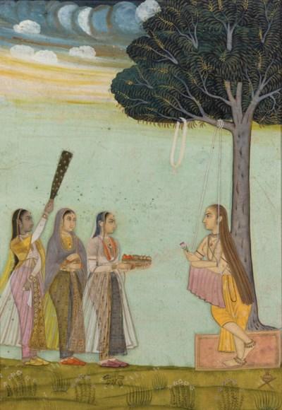 A Painting of Three Ladies Vis