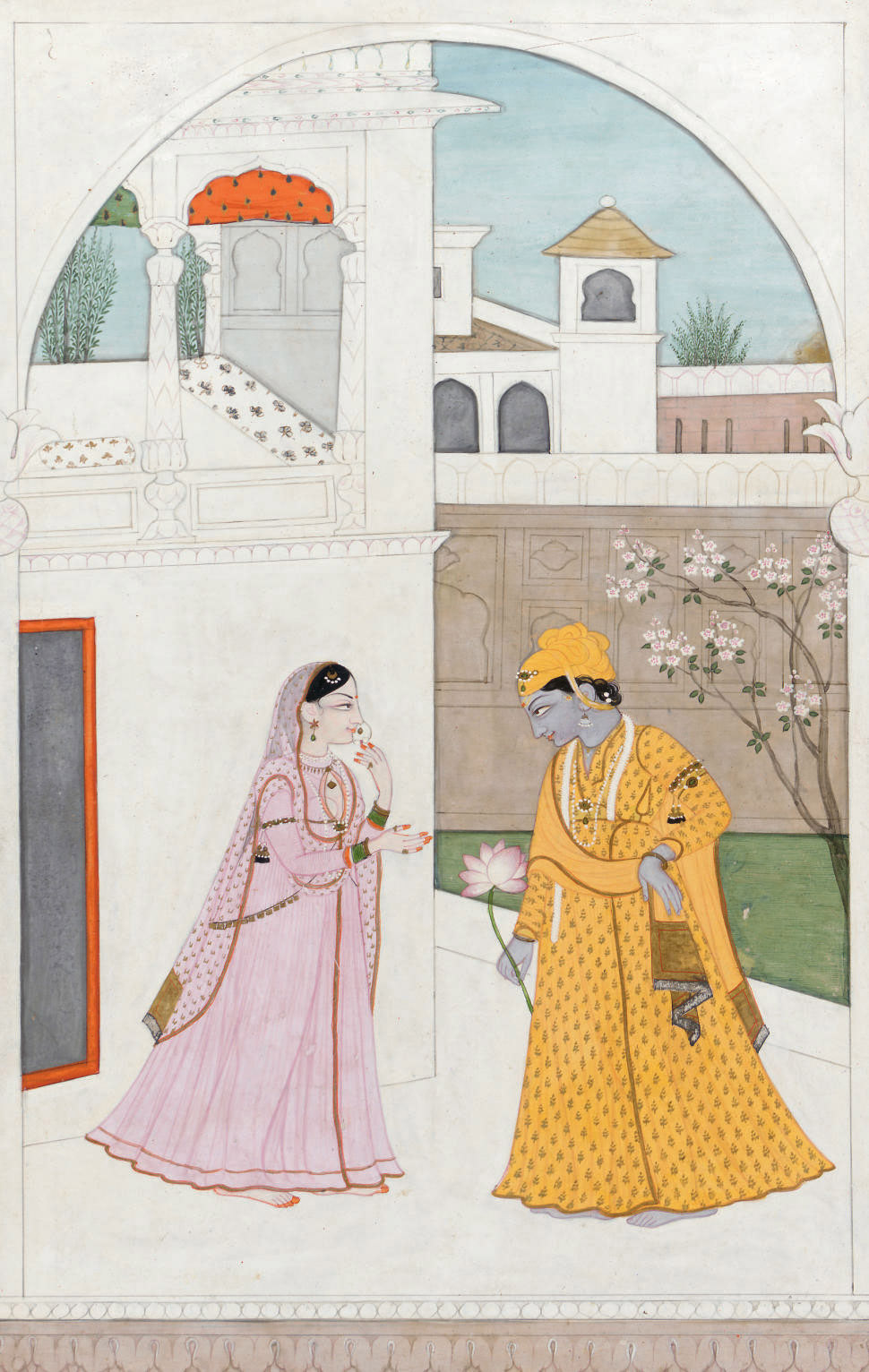 A Painting of Krishna Meeting