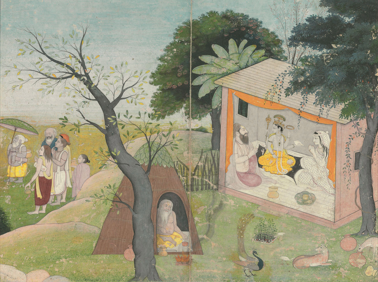 A painting of Krishna