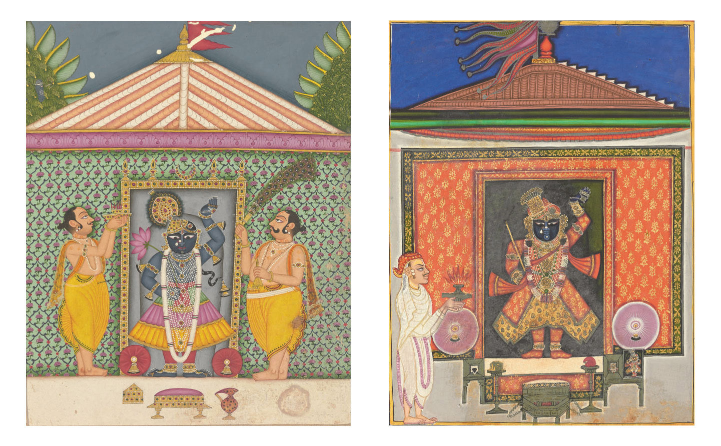 Two paintings of Sri Nathji