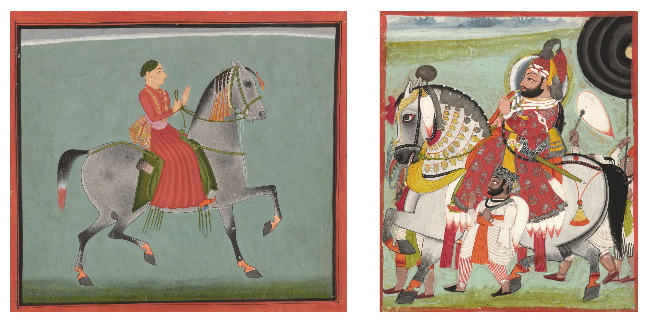 Two equestrian portraits of th