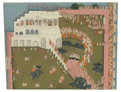 A large painting of a Maharana
