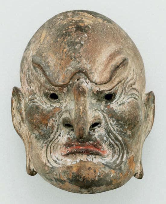 Miniature Gigaku mask of Suiko