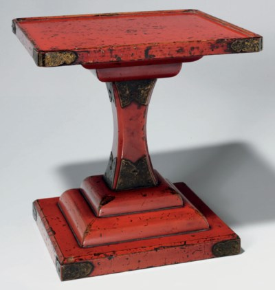 A Negoro Lacquer Table (Takats