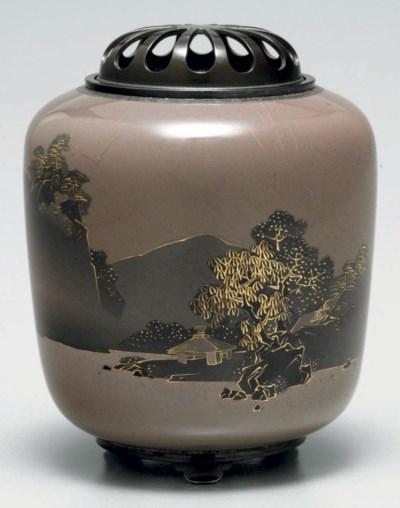 A cloisonné-enamel incense bur