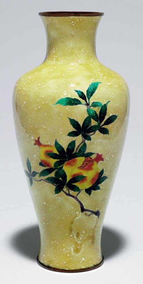 A cloisonné-enamel vase