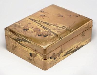 A lacquer document box (bunko)