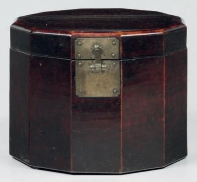 A Twelve-sided Wood Hat Box