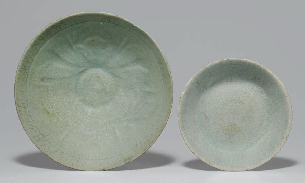A Celadon Stoneware Bowl and a
