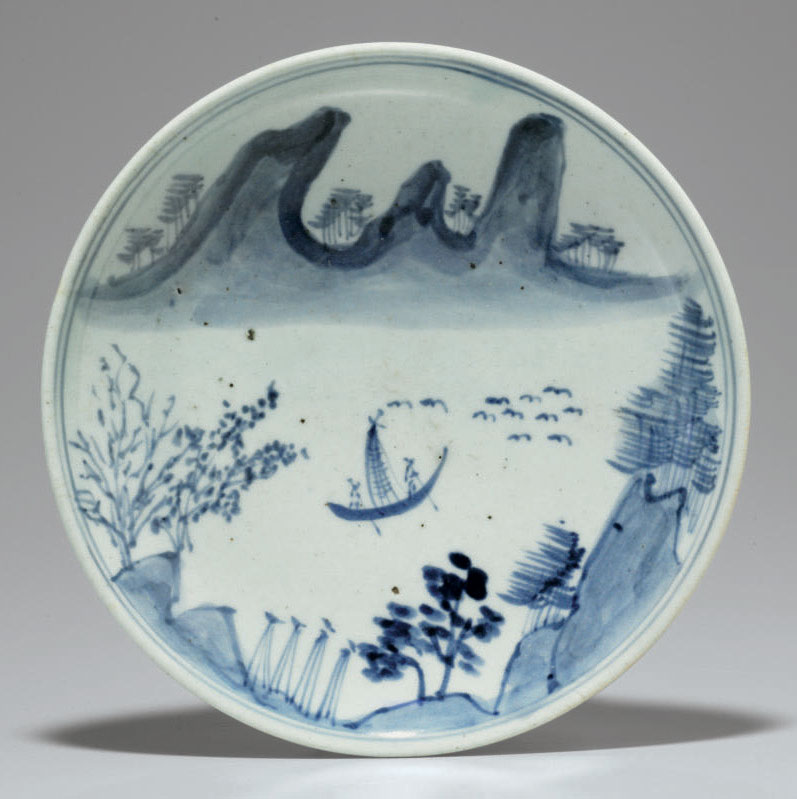 A Blue and White Porcelain Dis