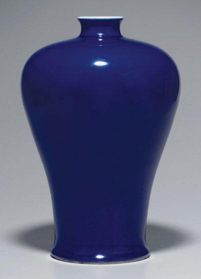 A RARE LARGE BLUE-GLAZED VASE,