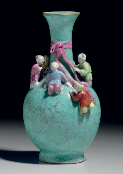 A FAUX-TURQUOISE AND FAMILLE R