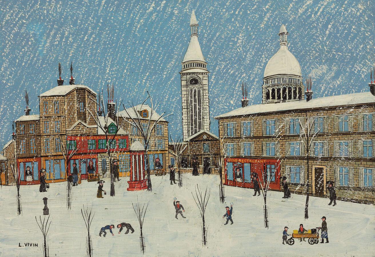 Montmartre, La Place du Tertre sous la neige