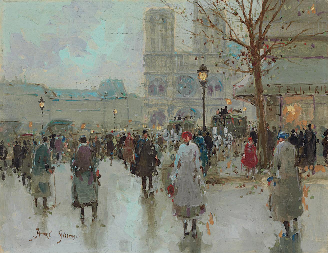 Boulevard près de Notre Dame