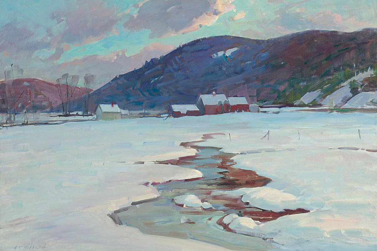 Stream in Winter, Vermont