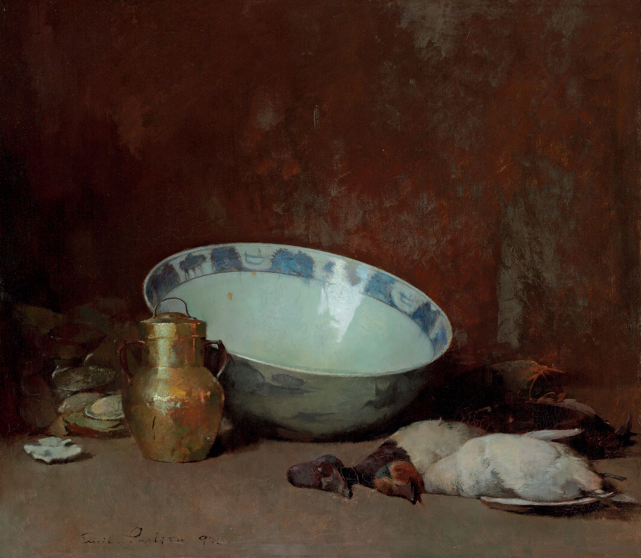 Still Life with Brass Urn