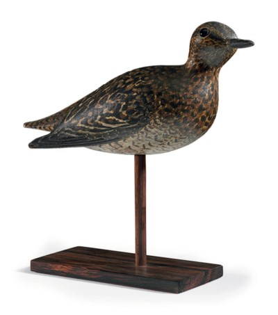 A GOLDEN PLOVER DECOY