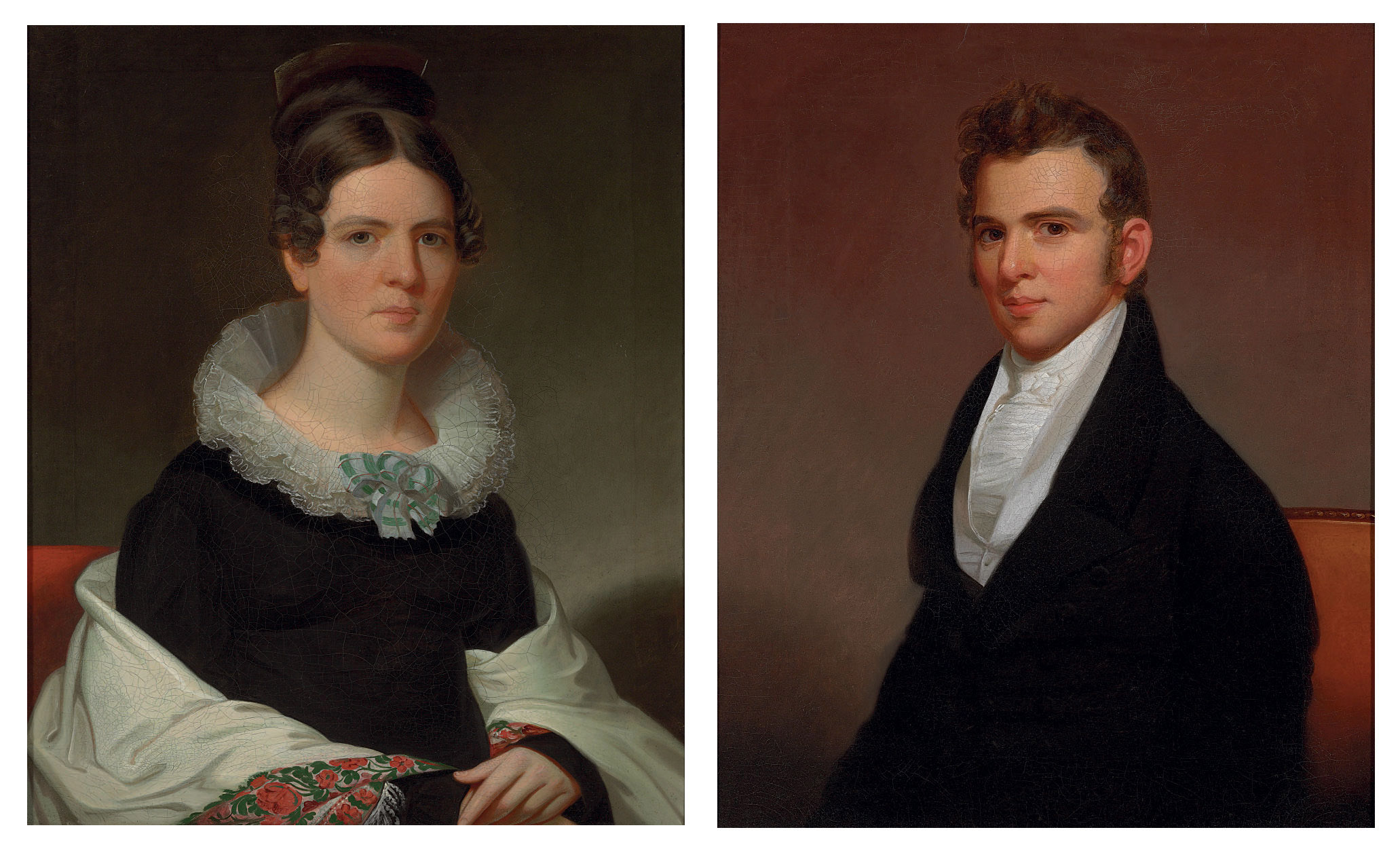 A Pair of Portraits of Margaret Hager Hoff and John George Hoff, Jr.
