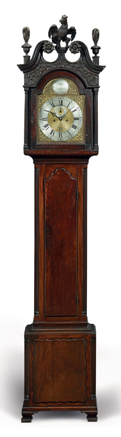 A CHIPPENDALE CARVED WALNUT TA