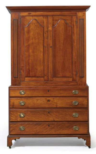 A LATE CHIPPENDALE CHERRYWOOD
