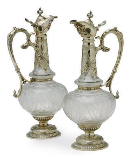 A PAIR OF CONTINENTAL SILVER-M