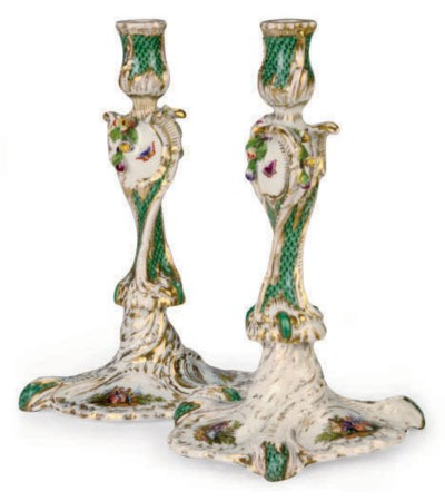A PAIR OF GERMAN ROCOCO-REVIVA
